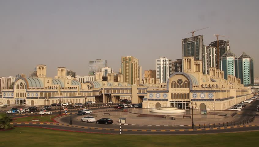 Sharjah Central Gold Souq (Market), Sharjah United Arab Emirates - HD stock footage clip