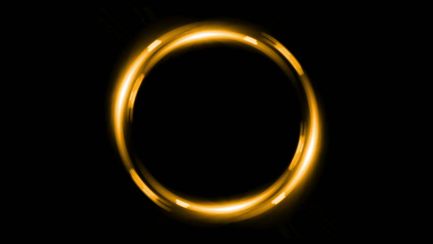 Yellow Ring Shape With No Background