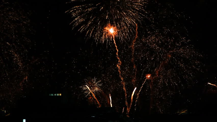 Copacabana Fireworks 2015 New Year Eve | Shutterstock HD Video #8378707