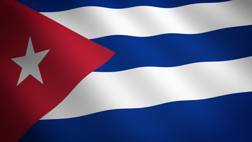 Cuba looping flag waving in the wind - HD stock video clip