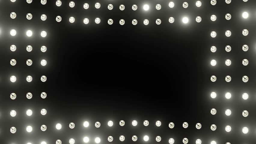 Frame Of Flashing Lighting Bulbs Loop Stock Footage Video