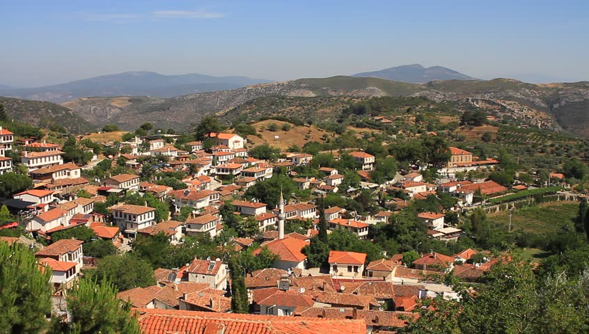 Sirince has become popular with travelers visiting the nearby historical sites. (Panoramic view) it is close to an area where Christians believe the Virgin Mary ascended to heaven