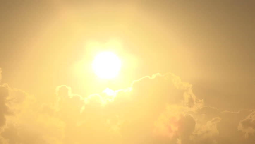 Close up of bright shining sun rising above clouds. | Shutterstock HD Video #8468887