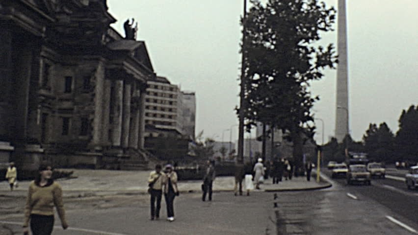 east berlin 1982 fernsehturm and berliner dom in 1982 in east berlin stock footage video. Black Bedroom Furniture Sets. Home Design Ideas