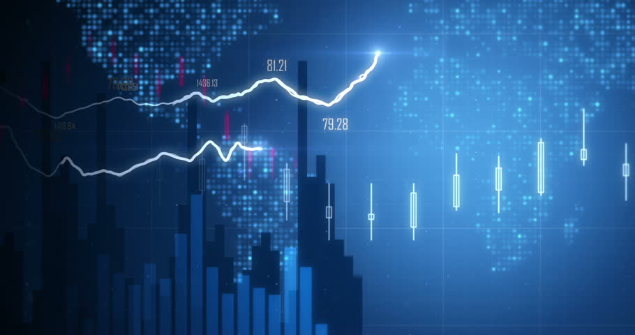 Positive Financial Chart In 4K Stock Footage Video 8479708