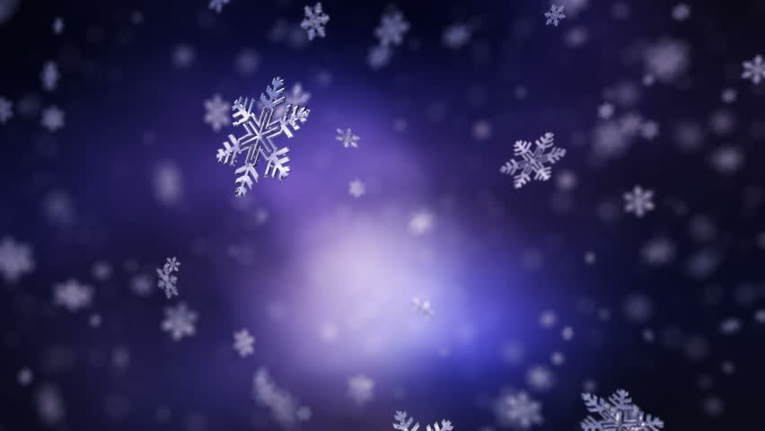 4k Falling snowflakes background. Loopable - 4K stock video clip