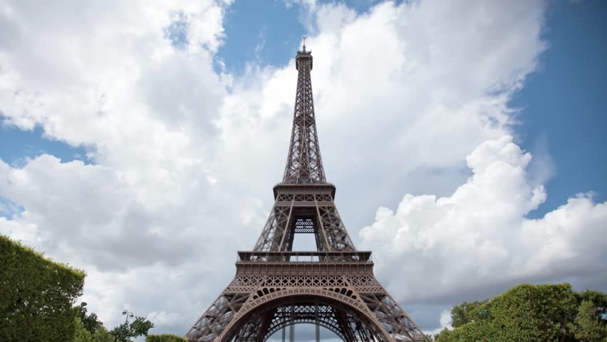 PARIS - JULY 29: Time lapse of tourists near Eiffel Tower in Paris, Paris has a population of 2,249,975 inhabitants, on july 29, 2013 in Paris, France | Shutterstock HD Video #8487841