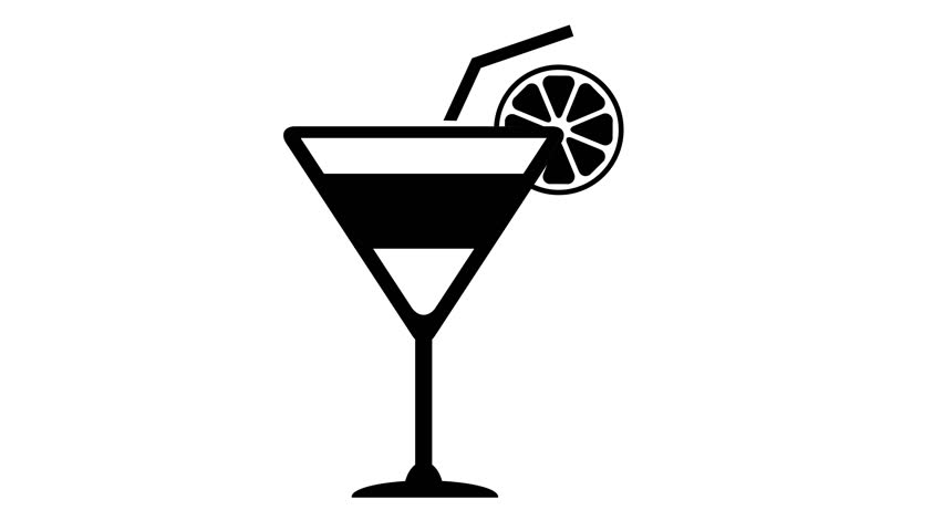 Glass With Martini Cocktail. Animation Stock Footage Video ...