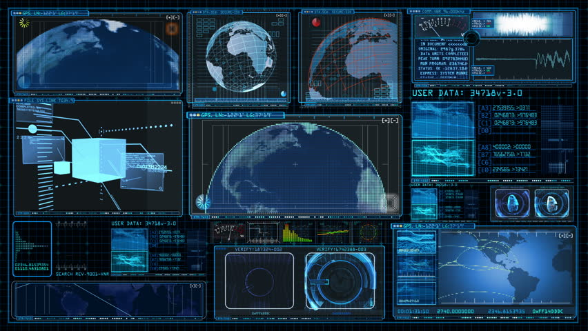 Technology Interface Computer Data Screen GUI 4K | Shutterstock HD Video #8506633