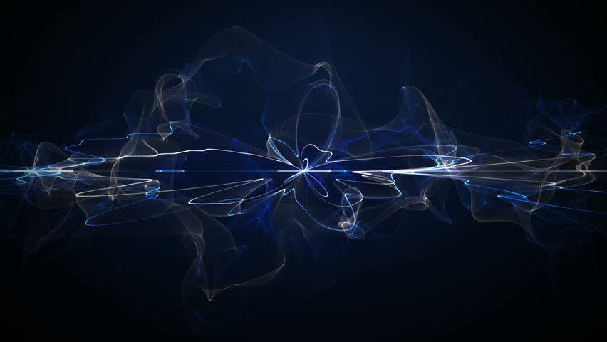futuristic form. computer generated abstract motion background - HD stock video clip