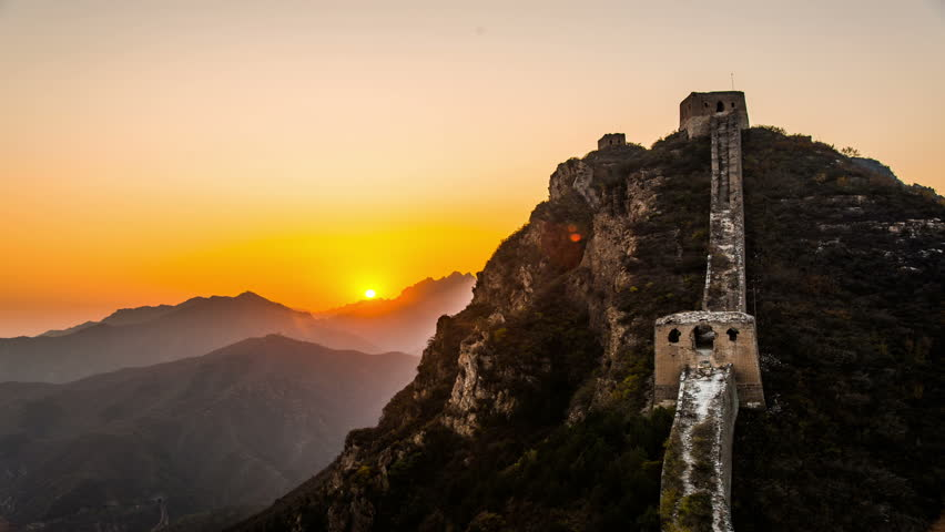The amazing scene of Jinshanling Wild Great Wall in Beijing, China | Shutterstock HD Video #8520016