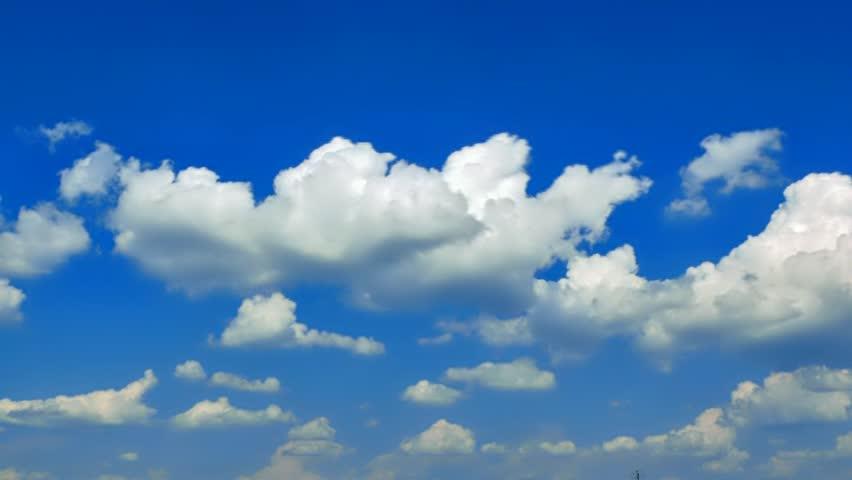 Running clouds - PAL Widescreen - SD stock video clip