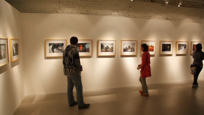 """MOSCOW - AUGUST 12: exhibition """"Cherti"""" August 12, 2010 in WineFactory, Moscow, Russia.  - HD stock video clip"""