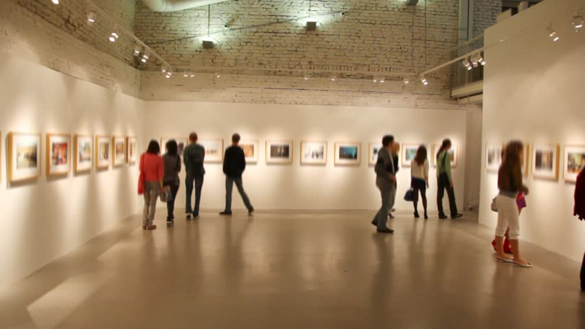 MOSCOW - CIRCA 2010: People tour Winzavod-Contemporary Art Center in Moscow - HD stock footage clip