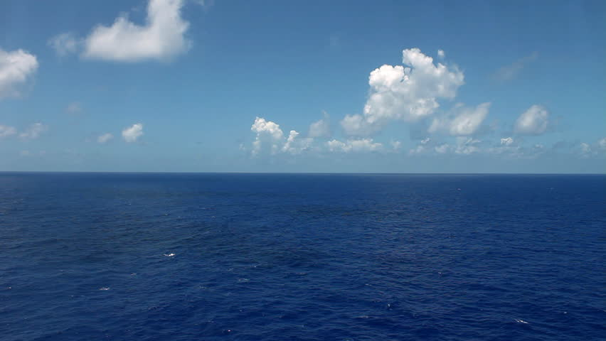 view of ocean from cruise - HD stock video clip