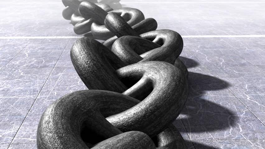 Heavy infinity chain. Bondage concept. LOOP.