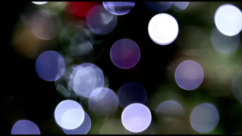Abstract, big blue lights blurred bokeh moving loop Full HD 1080p - HD stock footage clip