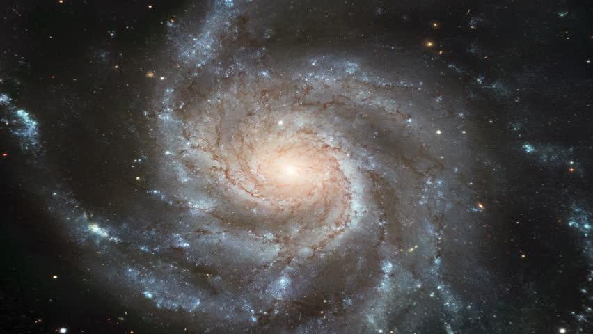 Galaxy Zoom Spiral - NASA Hubble Telescope (4k, 1080p HD, Timelapse)