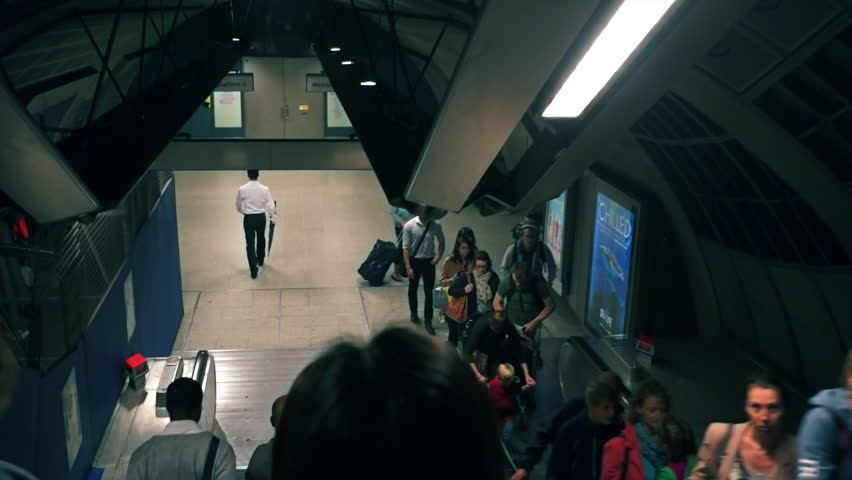 LONDON, UK - CIRCA APRIL 2014: People walking out between of the tube stations in London, UK | Shutterstock HD Video #8638465
