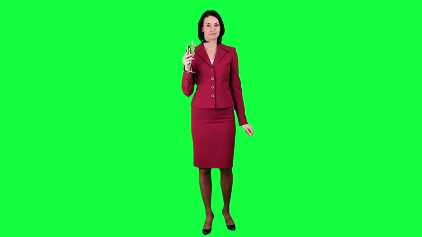 Business fourchette chroma key