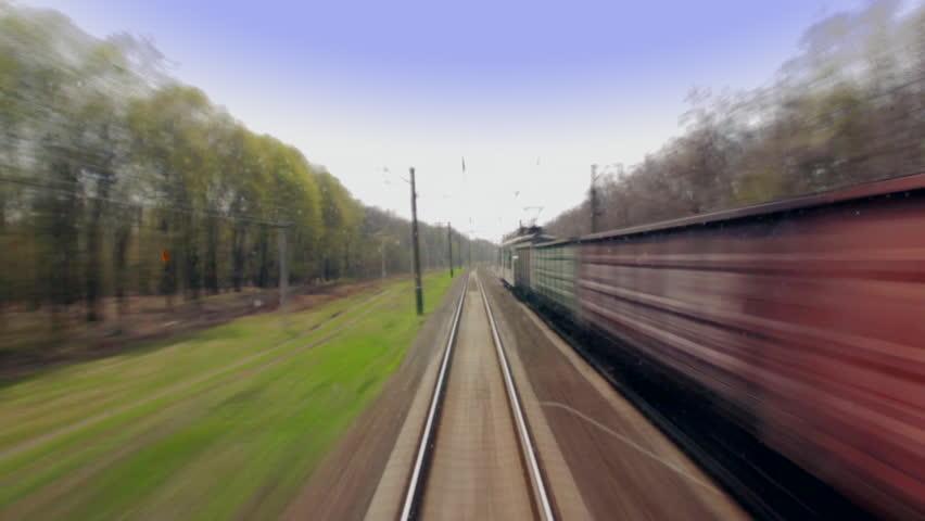 Railroad Time Lapse   Shutterstock HD Video #8681593