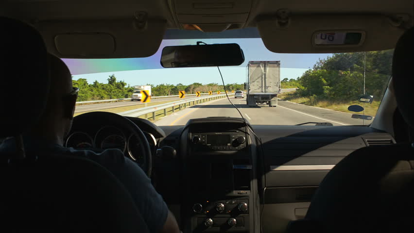 punta cana dominican republic novemer 14 2014 time lapse of car driving on the motorway. Black Bedroom Furniture Sets. Home Design Ideas