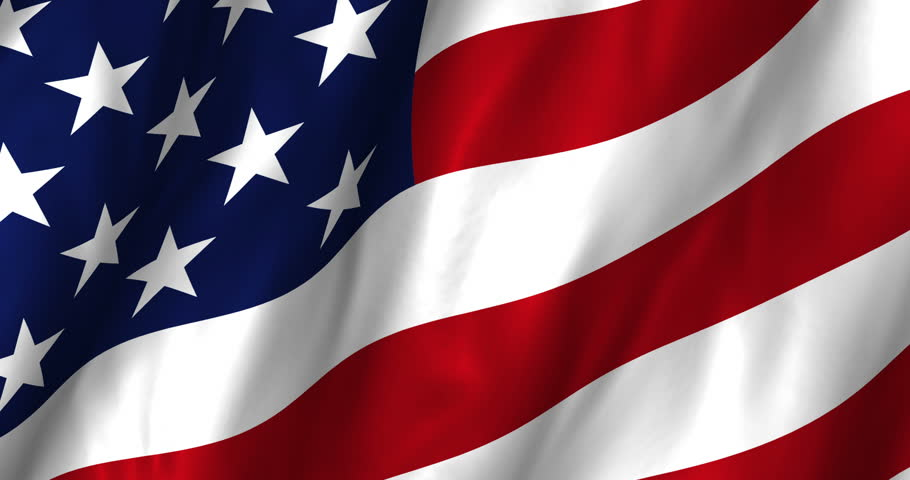 A beautiful satin finish looping flag animation of the USA. 4K resolution (4096 x 2160)  A digital rendering of the official flag design in a full frame composition.  Loops at 10 seconds.   - 4K stock footage clip