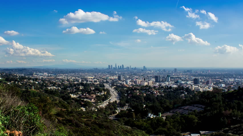 4K Hollywood Bowl Overlook Timelapse With Clouds Los Angeles    Shutterstock HD Video #8776336