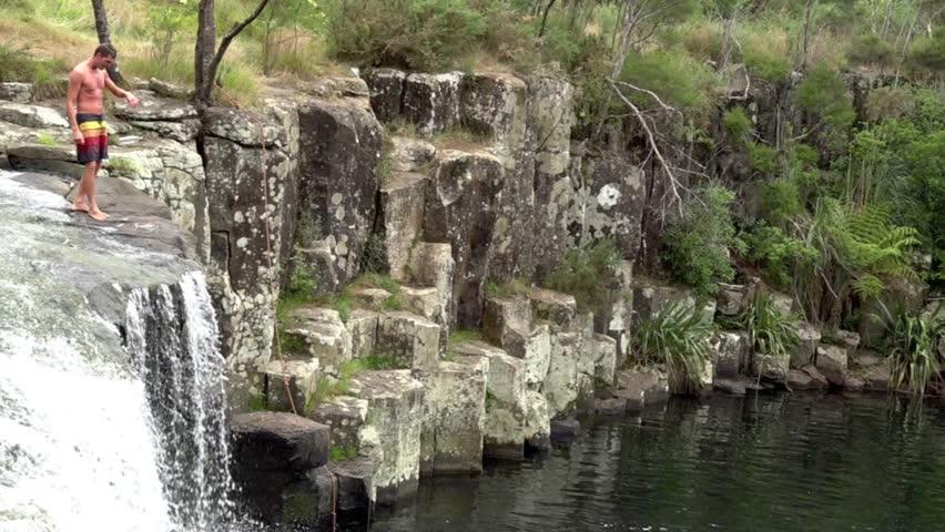 Man Cave Nz Kerikeri : Kerikeri nzl feb man jumps off charlies rock