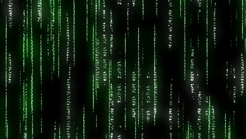 data stream matrix vertically scrolling numbers stock