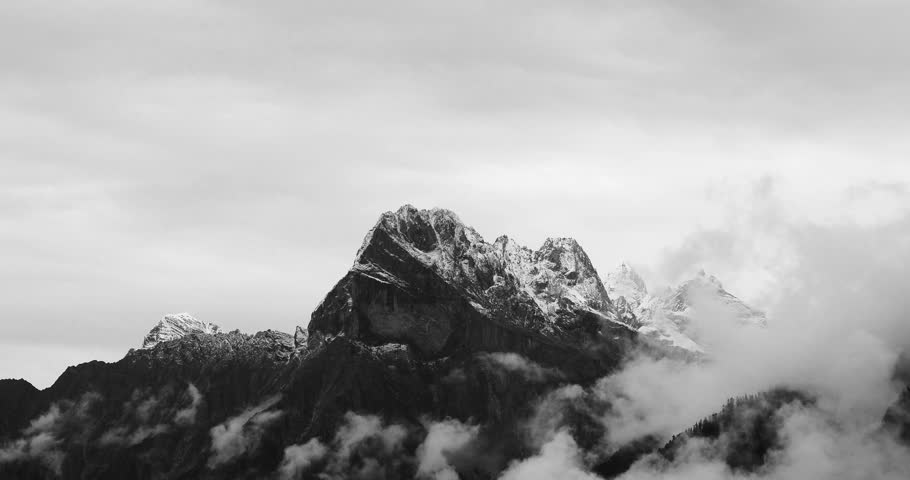 4k time lapse of clouds mass rolling over Tibet snow-Covered mountains in tibet. gh2_09929_4k | Shutterstock HD Video #8837545
