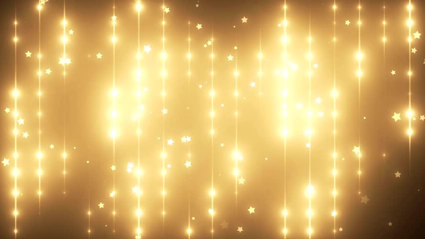 Floodlights Disco Background Bright Gold Flood Lights