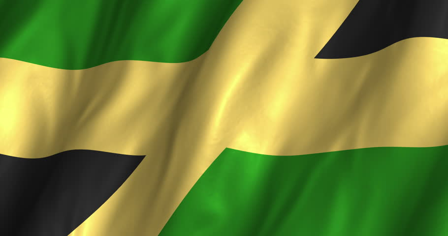 Flag Of Jamaica Background Seamless Loop Animation Stock Footage ...
