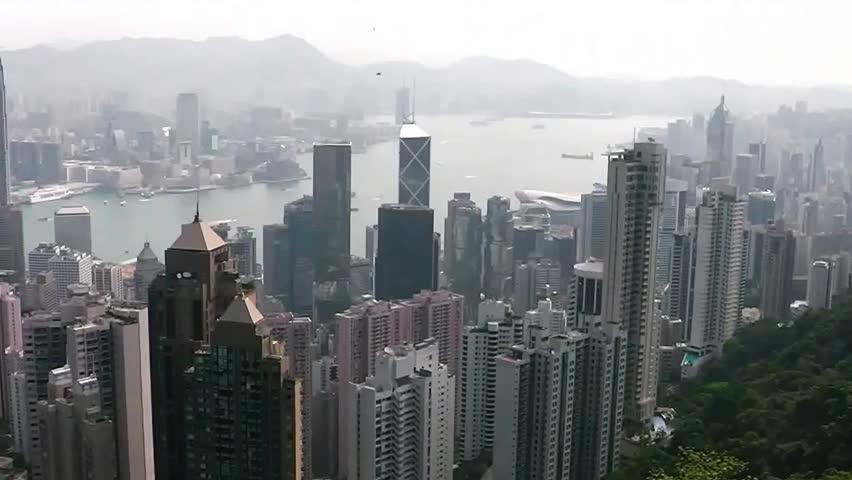 View of Hong Kong from Victoria Peak.   Shutterstock HD Video #8893948
