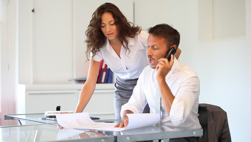 Business team on a conference call - HD stock video clip