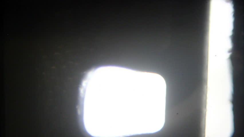 vintage old film projector footage