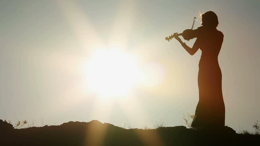 Resultado de imagen de violinista ancianaatardecer
