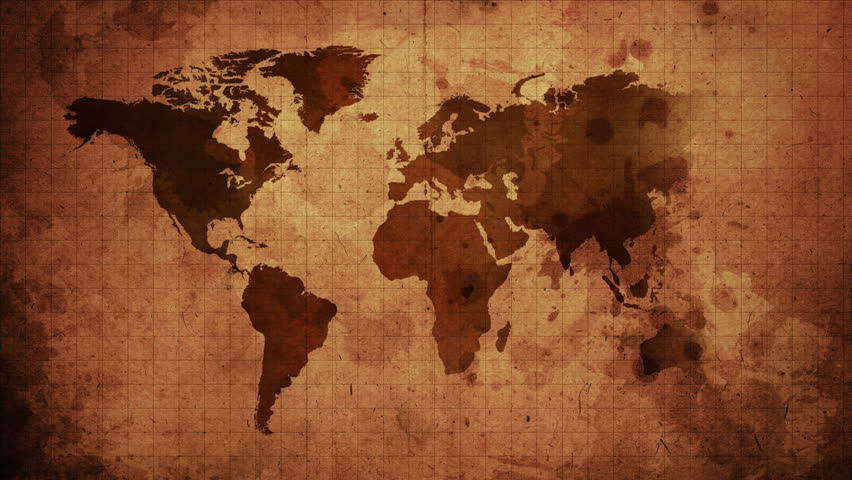 Retro Traveller Map With Compass Stock Footage Video