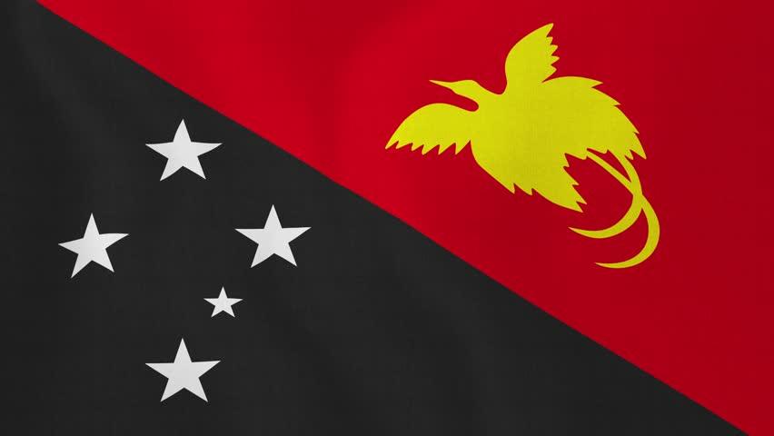 Papua New Guinea Flag Loop 3 Stock Footage Video 1370221 ...