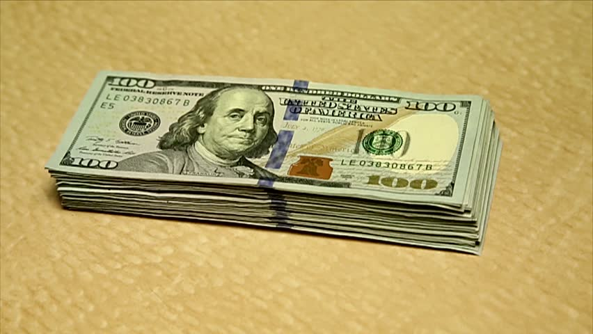 Close-up of US Dollars bills.