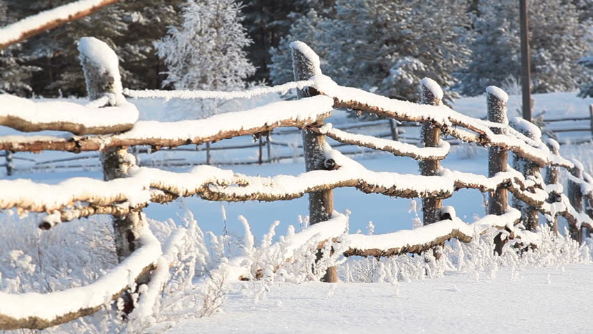 country rail fence winter - photo #13