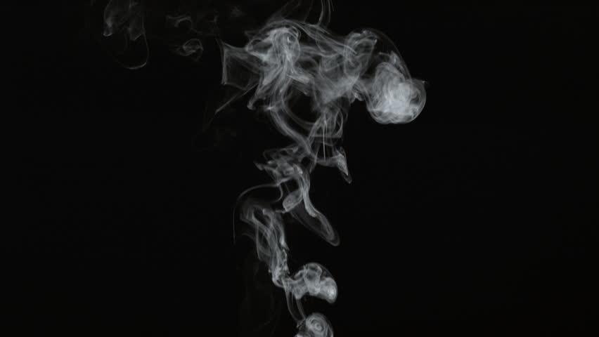 Smoke on black background in slow motion; shot on Phantom Flex 4K at 1000 fps