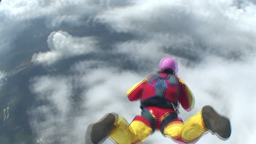 Skydiving video. - HD stock footage clip