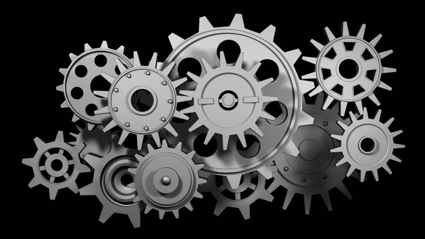 Broken Gears System, 3d Animation Stock Footage Video ...