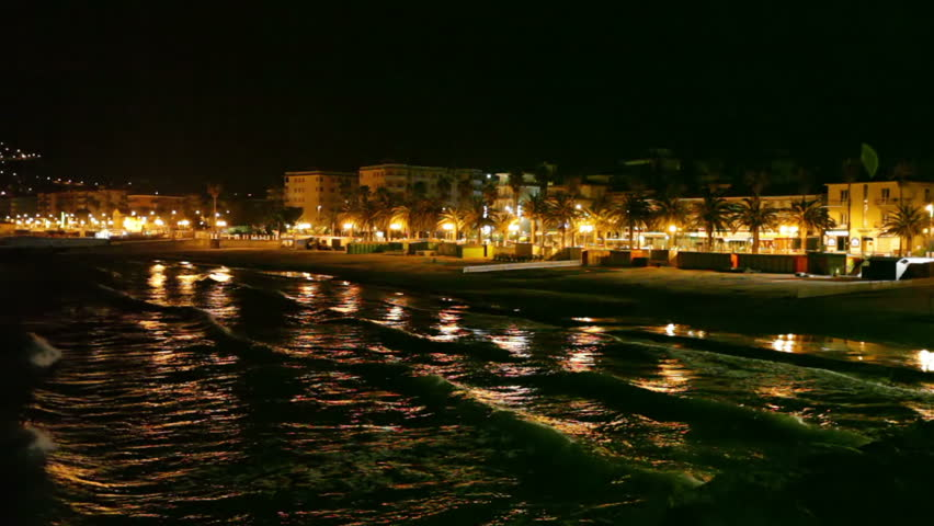 cannes france september 29 2014 illuminated aerial view of le suquet old town french riviera. Black Bedroom Furniture Sets. Home Design Ideas