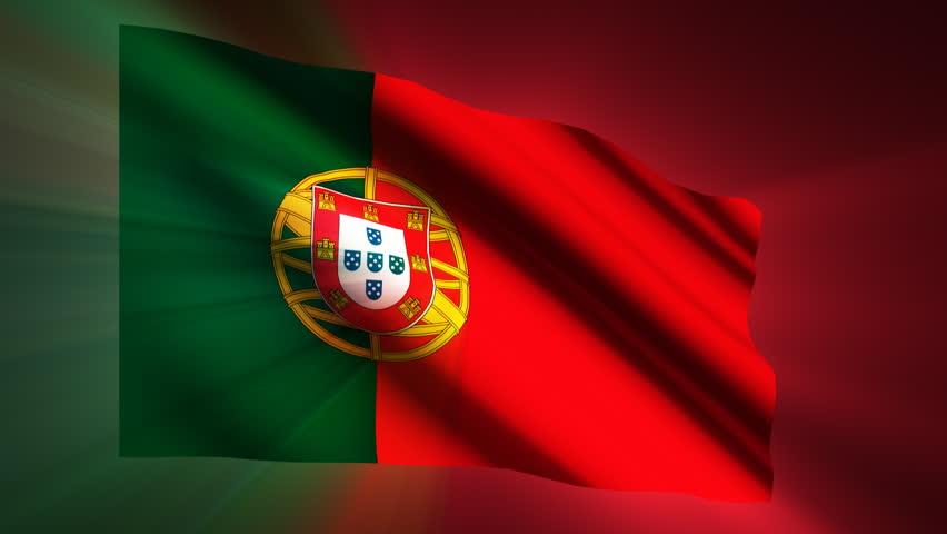 Portugal shining waving flag - HD loop  | Shutterstock HD Video #904414