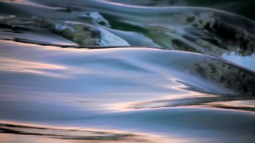 flowing Water and wave time laps looping color SLOW MOTION - HD stock footage clip
