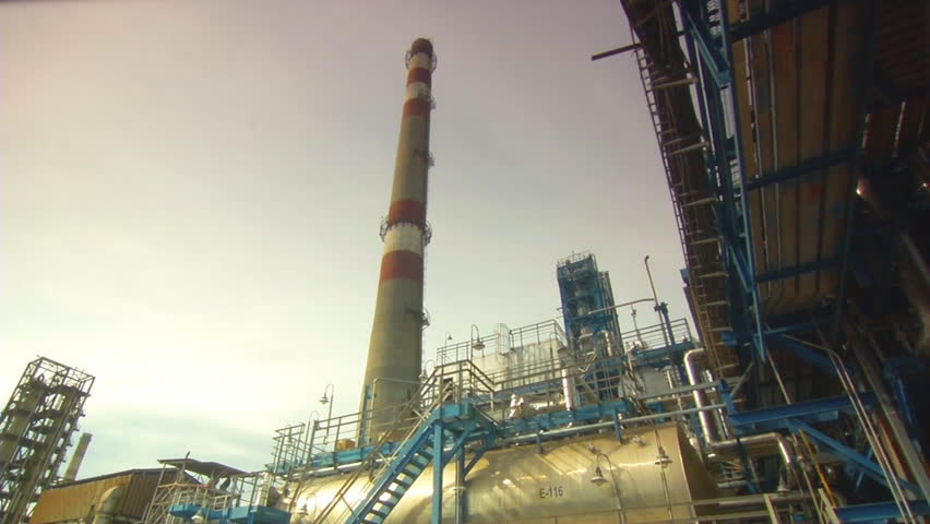 Oil Plant - HD stock footage clip