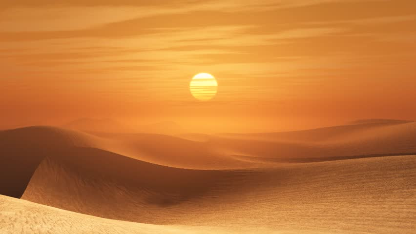 Desert sunset - HD stock video clip