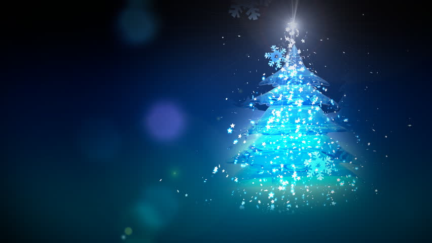 Computer-rendered animation for Christmas or celebration with one turning crystal tree.  | Shutterstock HD Video #919669